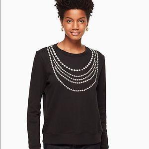 🆕 Kate Spade pearl embellished sweatshirt